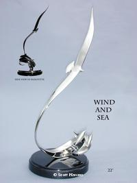 "Stainless Steel""Wind and Sea"" - Albatross and Dolphin by Scott Hanson - Wind and Sea - ""Wind and Sea"" an Albatross and Dolphin Sculpture by Scott Hanson -"
