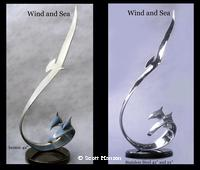 """Wind and Sea"" - Albatross and Dolphin by Scott Hanson - Wind and Sea - ""Wind and Sea"" an Albatross and Dolphin Sculpture by Scott Hanson -"