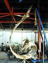 "Bronze cast at the foundry""Wind and Sea"" - Albatross and Dolphin Monumental Bronze Sculpture 15 Feet Tall - Wind and Sea - Wind and Sea"" - Albatross and Dolphin Monumental Bronze Sculpture 15 Feet Tall by Scott Hanson -"