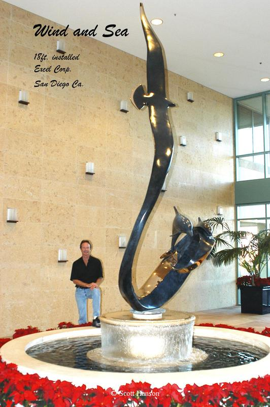 """Wind and Sea"" - 15 Feet Tall -Monumental Bronze Sculptures Monumental Bronze Sculptures by Scott Hanson - Monumental Sculpturesby Scott Hanson"