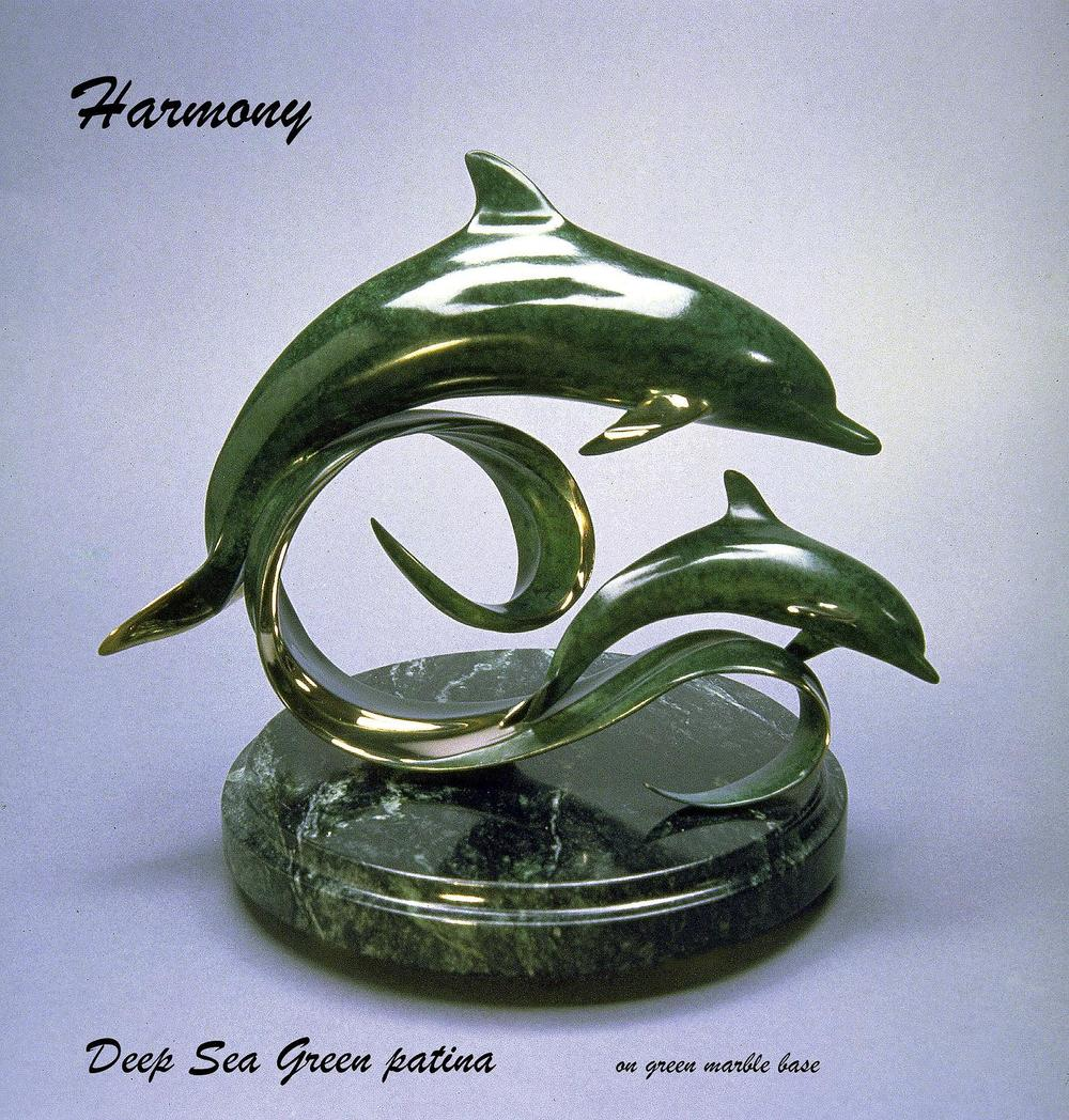 """Harmony"" - Bronze Sculpture 10"" x 14"" -Marine Wildlife Sculpture Bronze and Stainless Ocean themed Sculpture by Scott Hanson - Bronze and Stainless Sculpture by Scott Hanson"