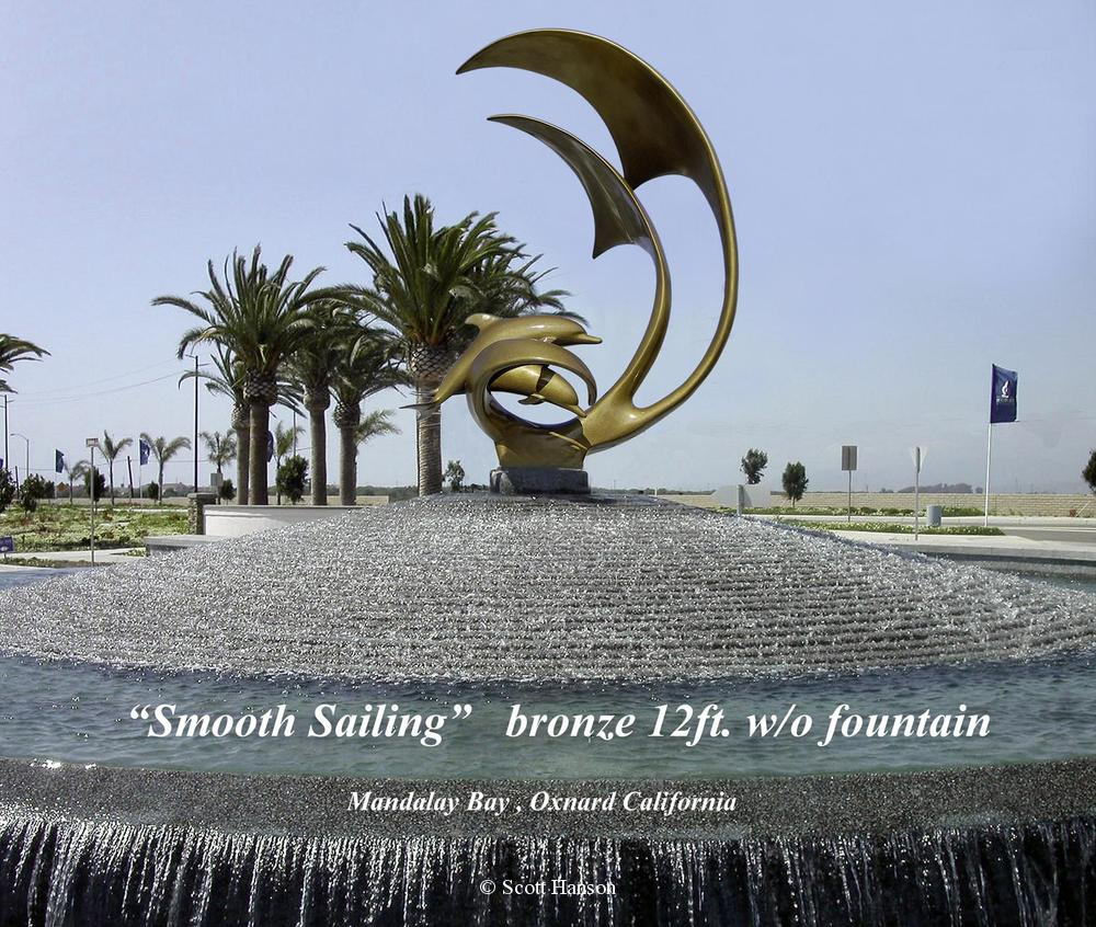 "Smooth Sailing The monumental bronze sculpture ""Smooth Sailing"" by Scott Hanson - ""Smooth Sailing"" - 10 Feet Tall"